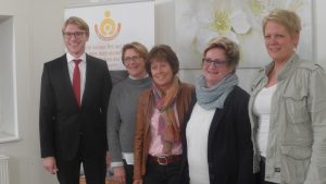 Der neue Vorstand freut sich auf die kommenden Aufgaben: Von links nach rechts: Dr. Martin Horchler, Andrea Hesse, Angelika Steinhoff, Ulrike Moritz, Birgit Kremer